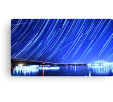 Star Trails Over Big Bear Lake  Canvas Print