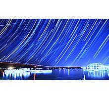 Star Trails Over Big Bear Lake  Photographic Print