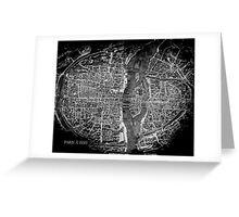 Paris à 1550 Greeting Card
