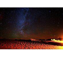Stars Galaxy Sky over Death Valley Desert Sand Photographic Print