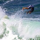 Surfs up at Warriewood NSW by Doug Cliff