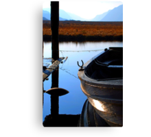 Snoozing Boat Canvas Print