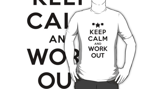 Keep Calm and Work Out (Alternative white) by Yiannis  Telemachou