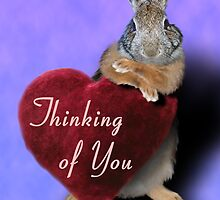 Thinking Of You Bunny Rabbit by jkartlife