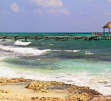 Playa del Carmen Seascape by Roupen  Baker