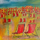 Beach Chairs by Diane Aspinwall