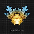 The Invader - Fractal Rorschach by veertype