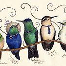 Endangered Humminbirds by Mariya Olshevska