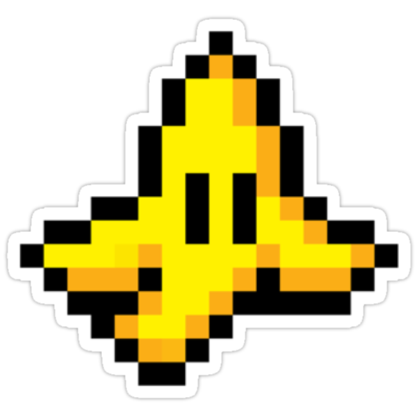 8-Bit Nintendo Mario Kart Banana Peel by electricFIELD