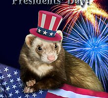 Presidents Day Ferret by jkartlife