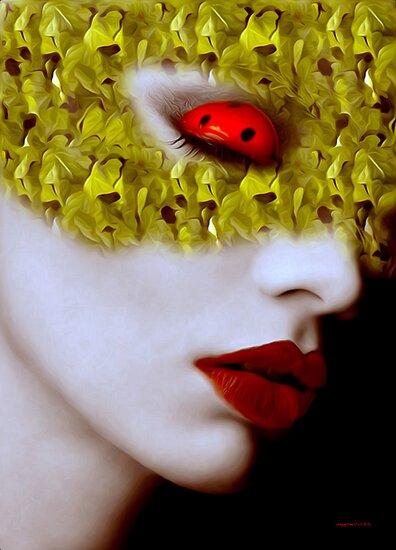 Sleeping ladybird Mask Series by Martin Dingli