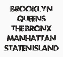New York Boroughs by rayraygeoff