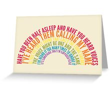 Voices Greeting Card