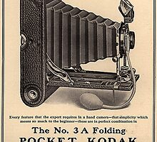 Vintage Kodak Folding Pocket Camera Old Advertising by sturgils