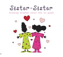 Sister ~ Sister  Main Logo with Text by Nia Brown