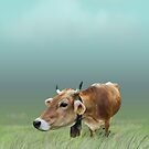 Milk cow in the field by vivendulies