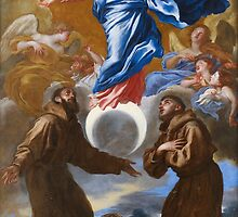 The Immaculate Conception with Saints Francis of Assisi and Anthony of Padua, 1650 by Bridgeman Art Library