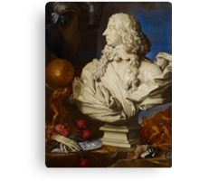 Allegorical Still Life with Bernini's Bust of Francis I d'Este Canvas Print