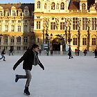 Ice skating at Hotel de Ville, Paris by graceloves