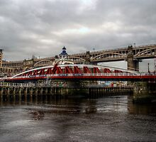 HDR Tyne Swing Bridge by Andrew Pounder