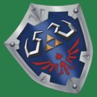 A Legend of Zelda (Left-shoulder Back) Shield Design  by FilipeFL3