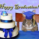 Graduation Bunny Rabbit by jkartlife