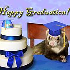 Graduation Ferret by jkartlife