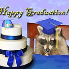 Graduation Raccoon by jkartlife