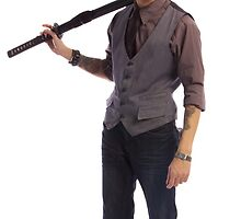 A Classy Yakuza with Samurai Sword by Mrfusiononcar