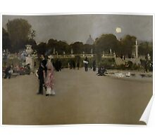 Luxembourg Gardens at Twilight, 1879 Poster
