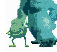 Mike & Sulley by misskiernan