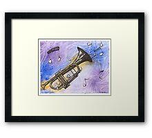Trumpet Notes Framed Print
