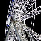 Duesseldorf - Ferris Wheel at night by Heike Richter