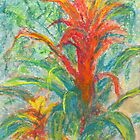 Bromeliad Pair (pastel) by Niki Hilsabeck