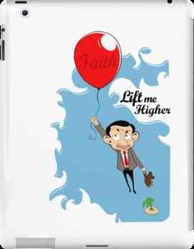 Mr. Bean in Faith Baloon by kikkawa