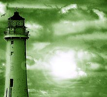 Lighthouse Collaboration in Green by DavidWHughes