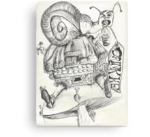 Alice and Wonderland Snail Fest Canvas Print