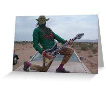 Yoda Air Guitar Hero Greeting Card