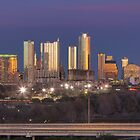 The Austin Skyline from the Zilker Park Clubhouse Pano by RobGreebonPhoto