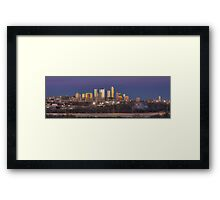 The Austin Skyline from the Zilker Park Clubhouse Pano Framed Print