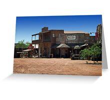 ApacheLand Saloon & Restaurant Greeting Card