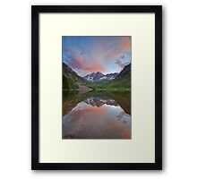 Maroon Bells Sunset near Aspen, Colorado Framed Print