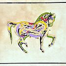 Tugra Colorfull Horse by Smutesh Mishra