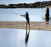 Fishing - Time to Reflect by Clare Colins