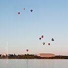 iPad case - Canberra Balloon Festival #2 by Odille Esmonde-Morgan