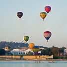 iPad case - Canberra Balloon Festival #3 by Odille Esmonde-Morgan