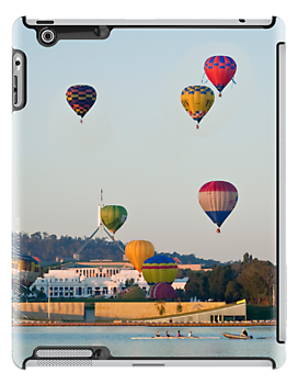 iPad case - Canberra Balloon Festival #3 by Odille Esmonde-Morgan