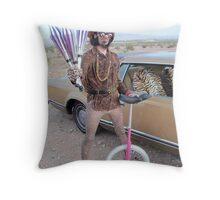 Juggler & Unicycle Clown Throw Pillow