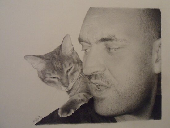 kitten club (pencil drawing) by Dave Castle