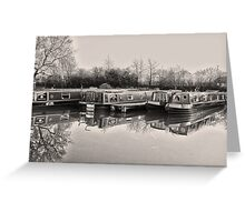 Vintage Canal Scene Greeting Card